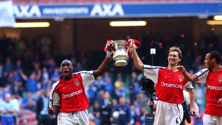 Campbell won three FA Cups and two Premier Leagues as a player at Arsenal