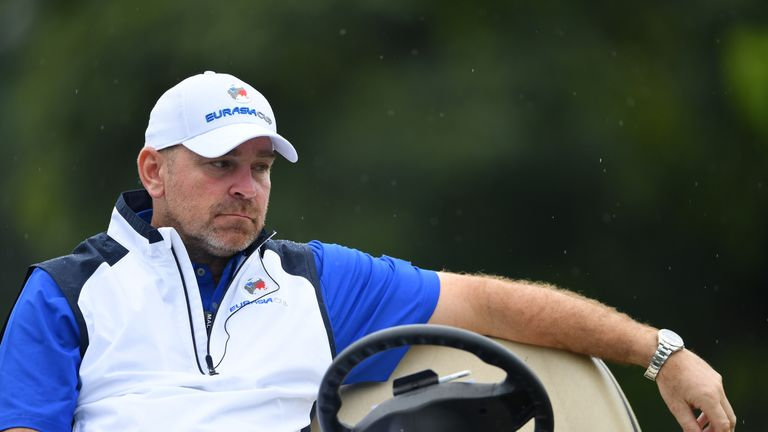 Concern for European captain Thomas Bjorn as his team fall behind