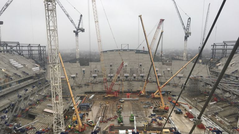 Tottenham's new stadium will feature a huge single-tier South Stand