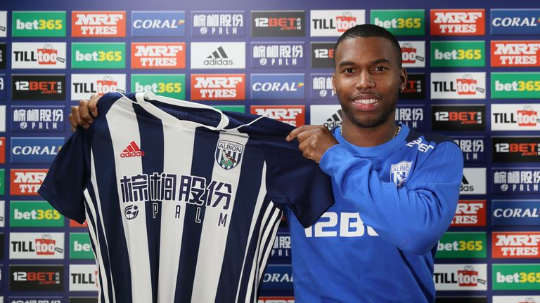 Daniel Sturridge has joined West Brom from Liverpool on loan until the end of the season. Credit: West Bromwich Albion FC