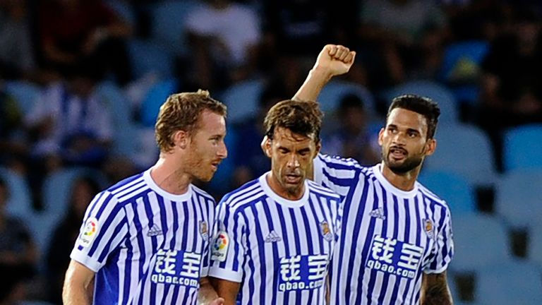 Willian Jose (right) was on the scoresheet again for La Real