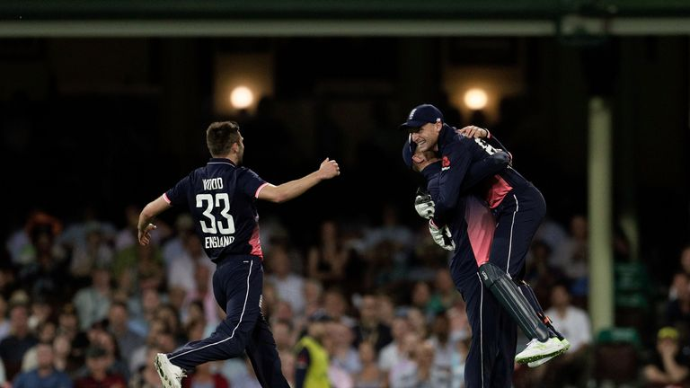 Eoin Morgan praised his bowlers after Liam Plunkett was injured early in the innings