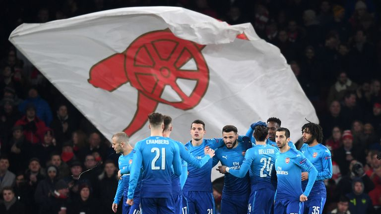 Arsenal qualified for the last 16 of the Europa League with a 4-2 aggregate victory against Ostersunds, despite losing 2-1 to the Swedes in the second leg at the Emirates.