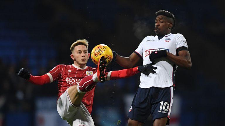 Ameobi (R) put in a Man of the Match display
