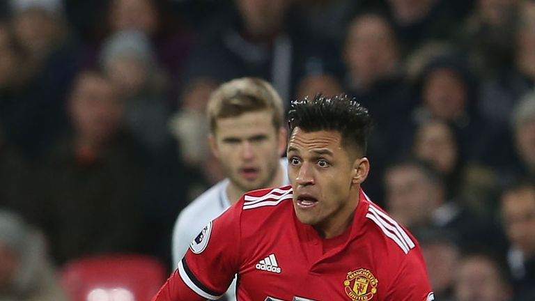 Sanchez made his Premier League debut for United in their 2-0 defeat to Tottenham