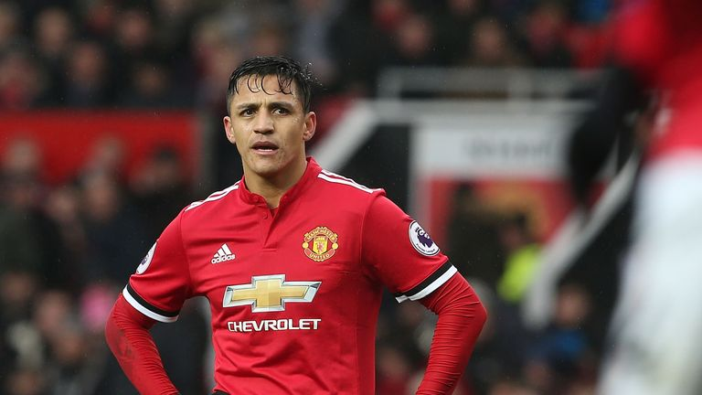 Alexis Sanchez scored 80 goals in 166 games for Arsenal before moving to Old Trafford to join Manchester United