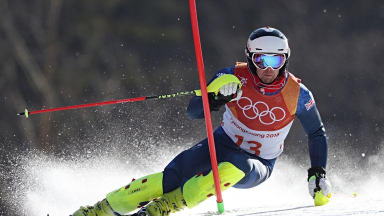 Dave Ryding finished ninth in the men's slalom