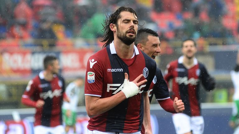 Andrea Poli scored the opening goal in Bologna's 2-1 win over Sassuolo