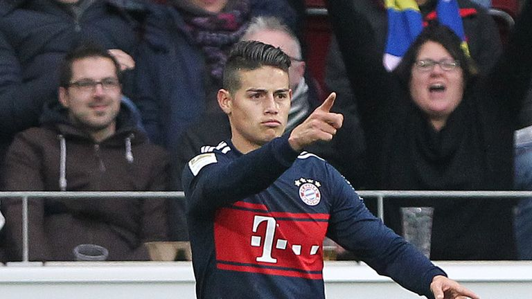 James Rodriguez doubled Bayern Munich's lead against Mainz