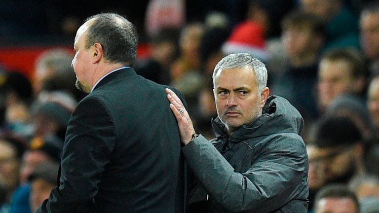 Rafael Benitez will take on Jose Mourinho in front of the Sky cameras