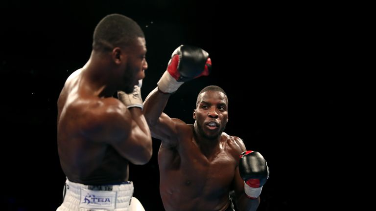 Lawrence Okolie won the 'British Beef' fight with a unanimous decision