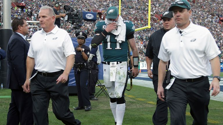 Carson Wentz's injury broke Eagles' fans hearts, appearing to put a massive dent in their Super Bowl hopes.