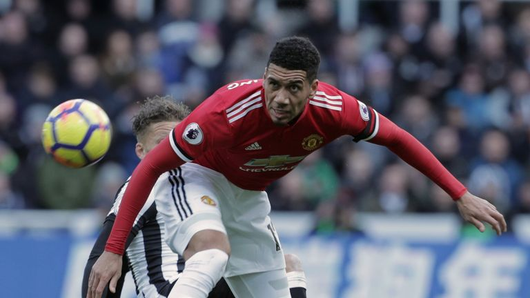 It was a disappointing day for Chris Smalling and Manchester United at St James' Park