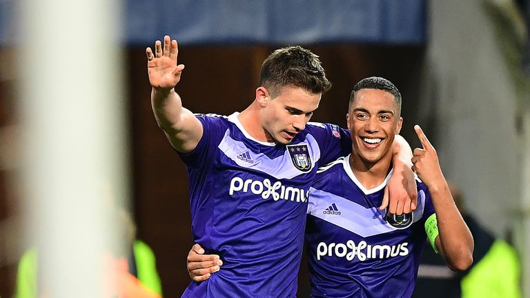 Dendoncker (L) and Youri Tielemans were a pivotal pair as Anderlecht won the league title last season