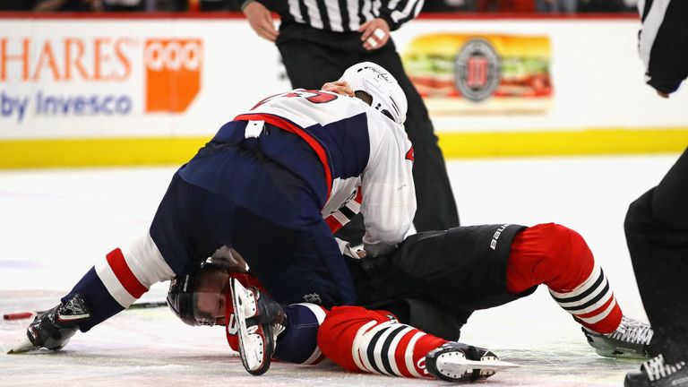 The incident occurred while Smith-Pelly was serving a penalty for fighting with Connor Murphy