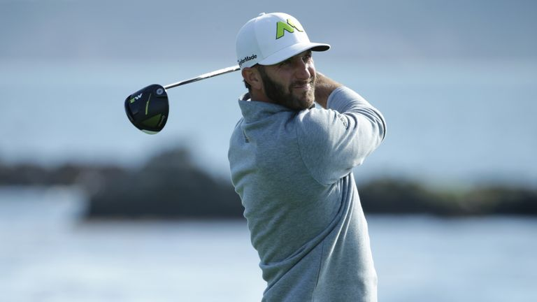 Dustin Johnson hit several drives of over 400 yards in 2017