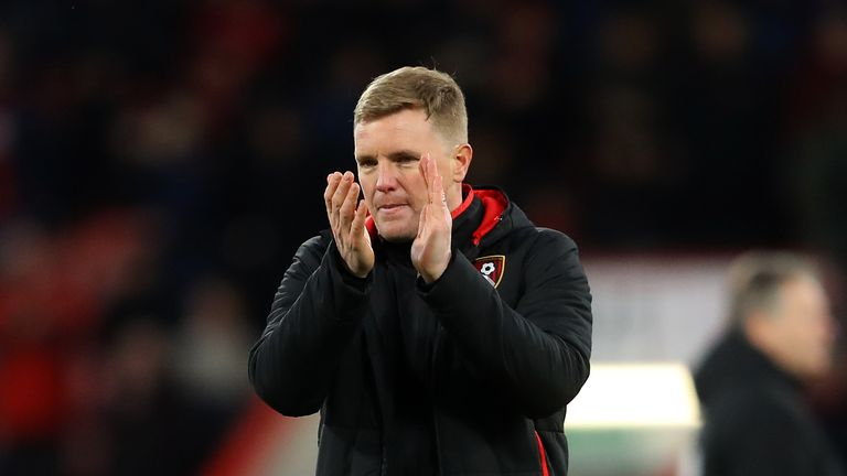 Eddie Howe has made a public apology to Bournemouth fans