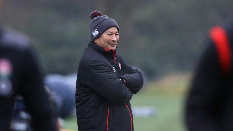 Eddie Jones is having to re-think England's training plans because of the weather
