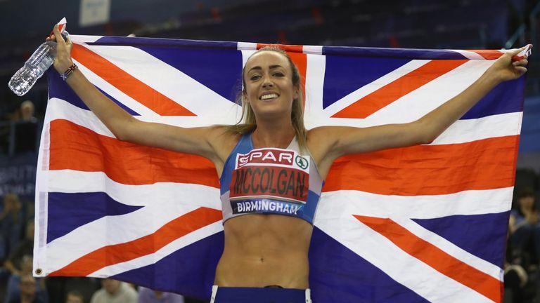 Eilish McColgan celebrates her victory in the women's 1500m final on Sunday