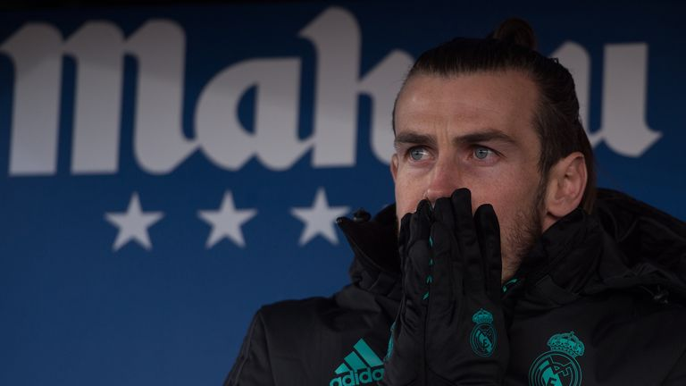 Gareth Bale had to make do with the substitutes' bench against Leganes