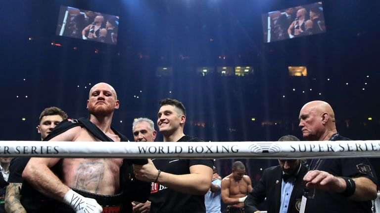 George Groves ended his win over Chris Eubank jr in agony after appearing to dislocate his shoulder