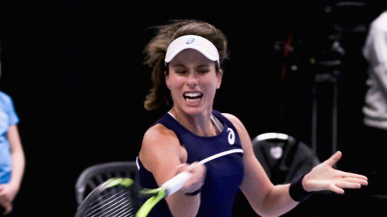 Konta helped Great Britain progress to the World Group II play-offs in April