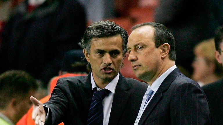 Jose Mourinho's rivalry with Rafa Benitez dates back to 2005 - though it has somewhat mellowed in recent years
