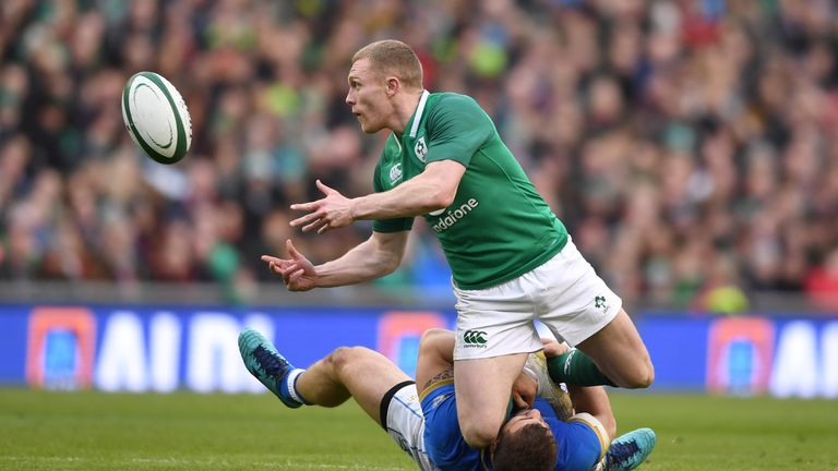 Keith Earls made three clean breaks for Ireland in Dublin