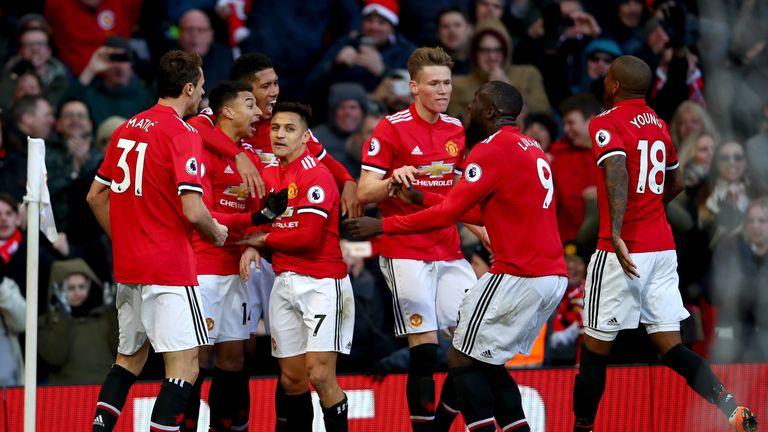 Jesse Lingard celebrates his winner for Manchester United