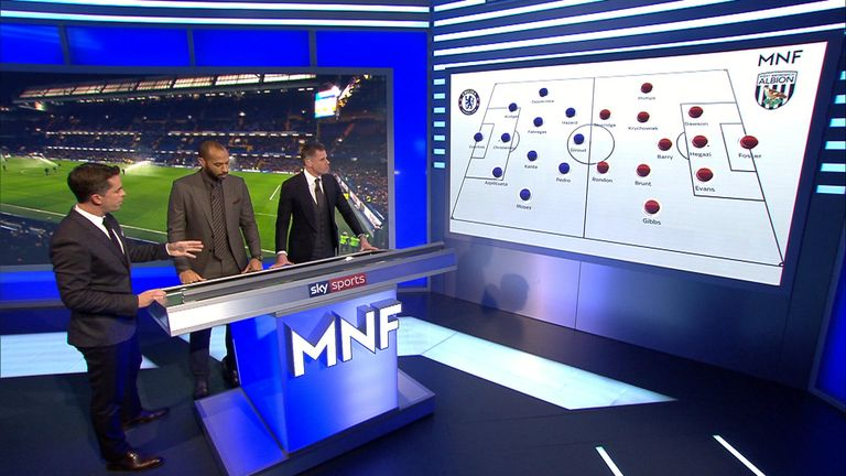 Thierry Henry, Jamie Carragher and David Jones on Monday Night Football
