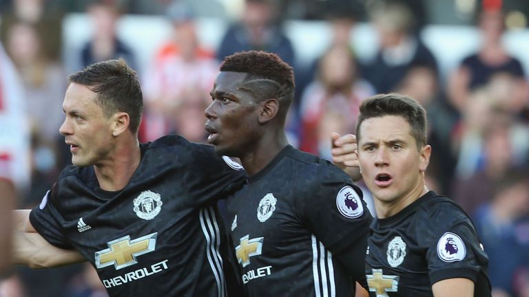 Nemanja Matic and Paul Pogba must play in a three-man midfield, insists Neville