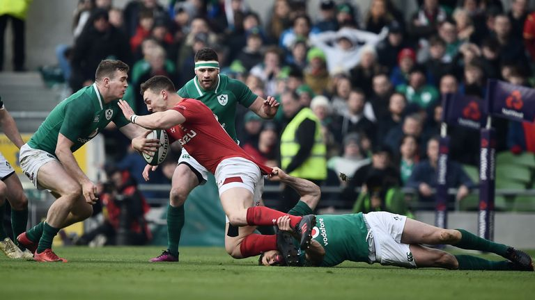 George North was a replacement for Wales in Dublin