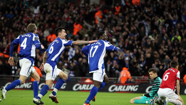 Wenger has been defeated twice in the League Cup final, against Chelsea in 2007 and Birmingham in 2011 (pictured)