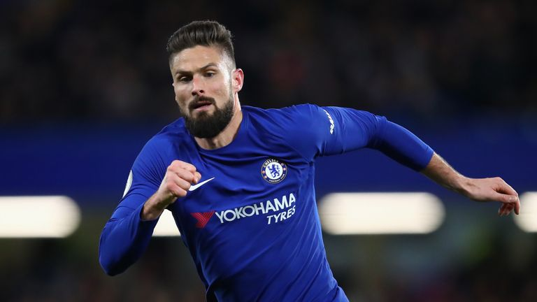 Olivier Giroud impressed on his first Chelsea start