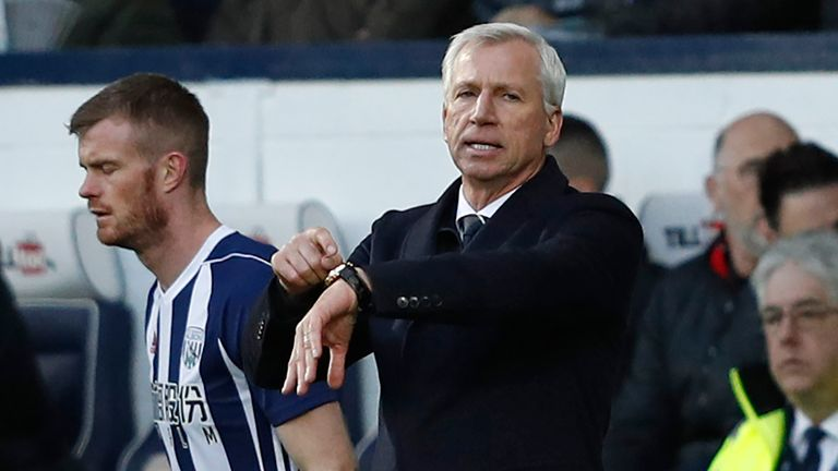 Alan Pardew has been managing West Brom for three months