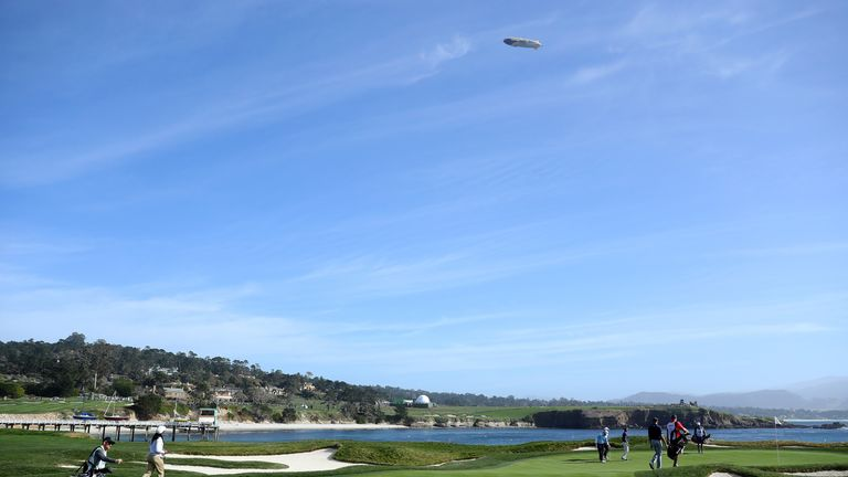 Pebble Beach's 17th hole is one of several on the course to overlook the water