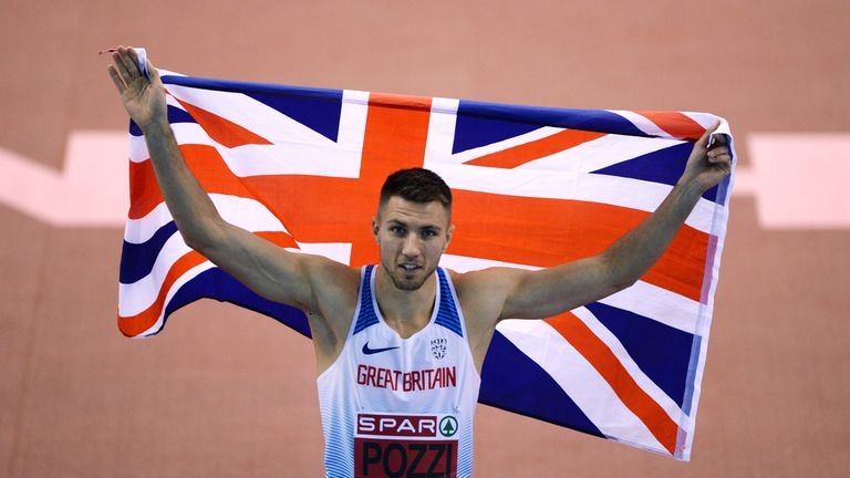 Andrew Pozzi is building up for the Commonwealth Games