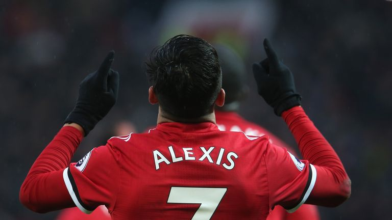 What was noteworthy about Alexis Sanchez's debut for Man Utd in January?
