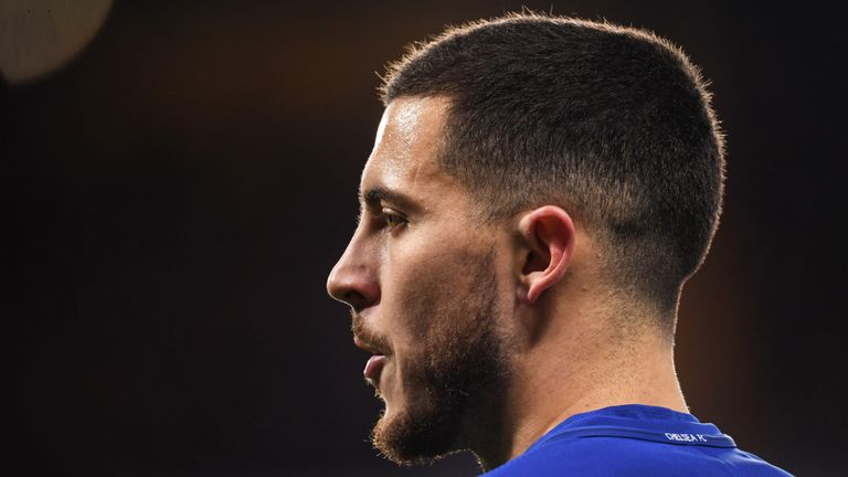 Eden Hazard was named up front for Chelsea against Barcelona and Manchester City