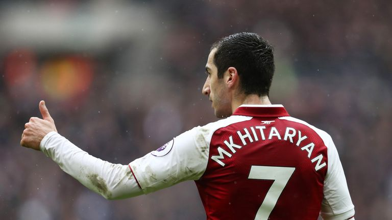 Mkhitaryan was brought to the club from Man Utd, in a deal which took Alexis Sanchez to Old Trafford