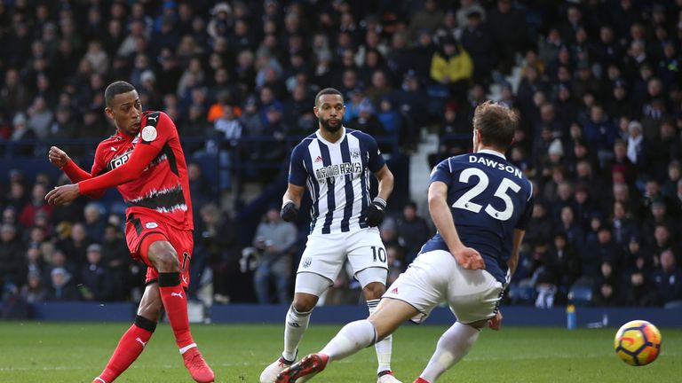 Rajiv van La Parra opened the scoring for Huddersfield at The Hawthorns
