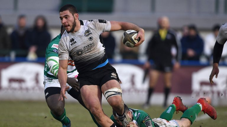 No 8 Renato Giammarioli was superb as Zebre created history in Ireland