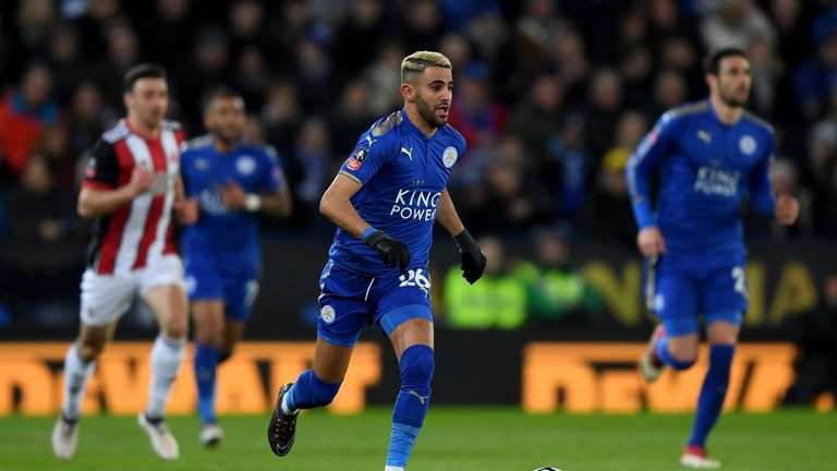 Mahrez started for Leicester in their FA Cup win over Sheffield United