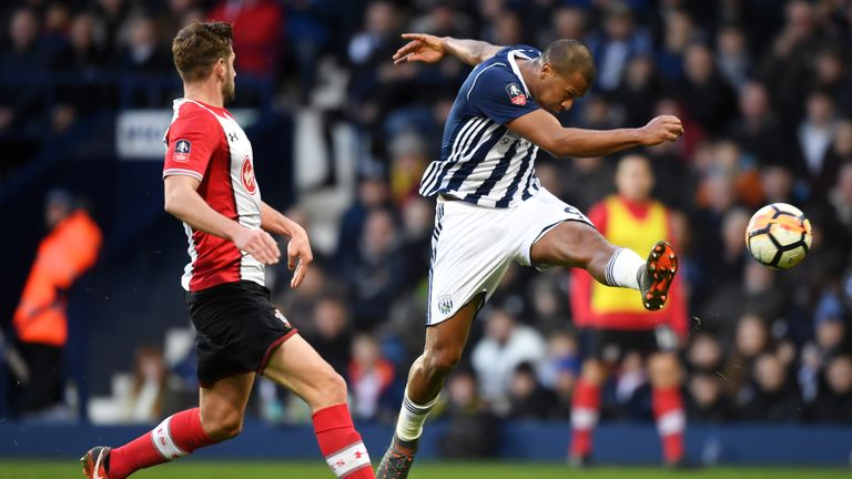 Salomon Rondon's volley could not inspire a West Brom comeback