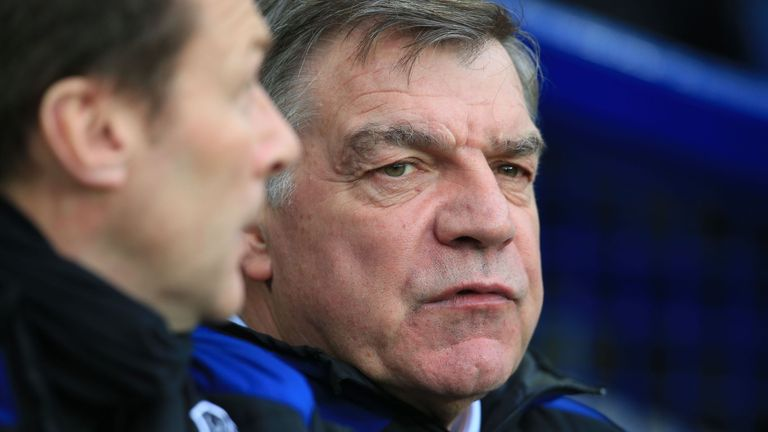 Sam Allardyce has won six of his 15 matches in charge at Goodison Park
