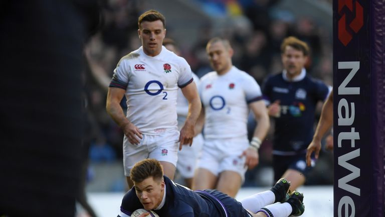 Huw Jones and co picked up wins against France, England and Italy in 2018 but lost at Wales and Ireland
