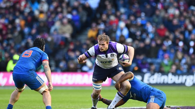 Scotland made 410 metres with the ball in hand to France's 315