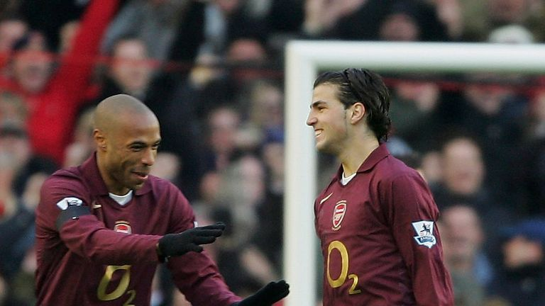 Fabregas and Thierry Henry played together at Arsenal under Arsene Wenger