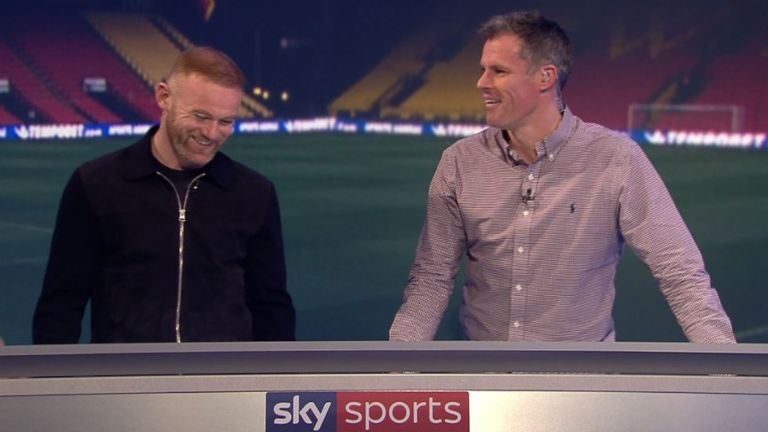 Rooney joined Jamie Carragher on MNF
