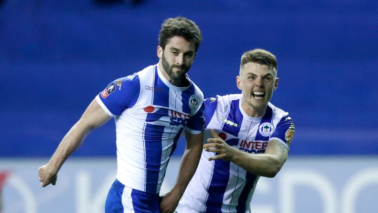 Grigg scored in the 79th minute for the League One side